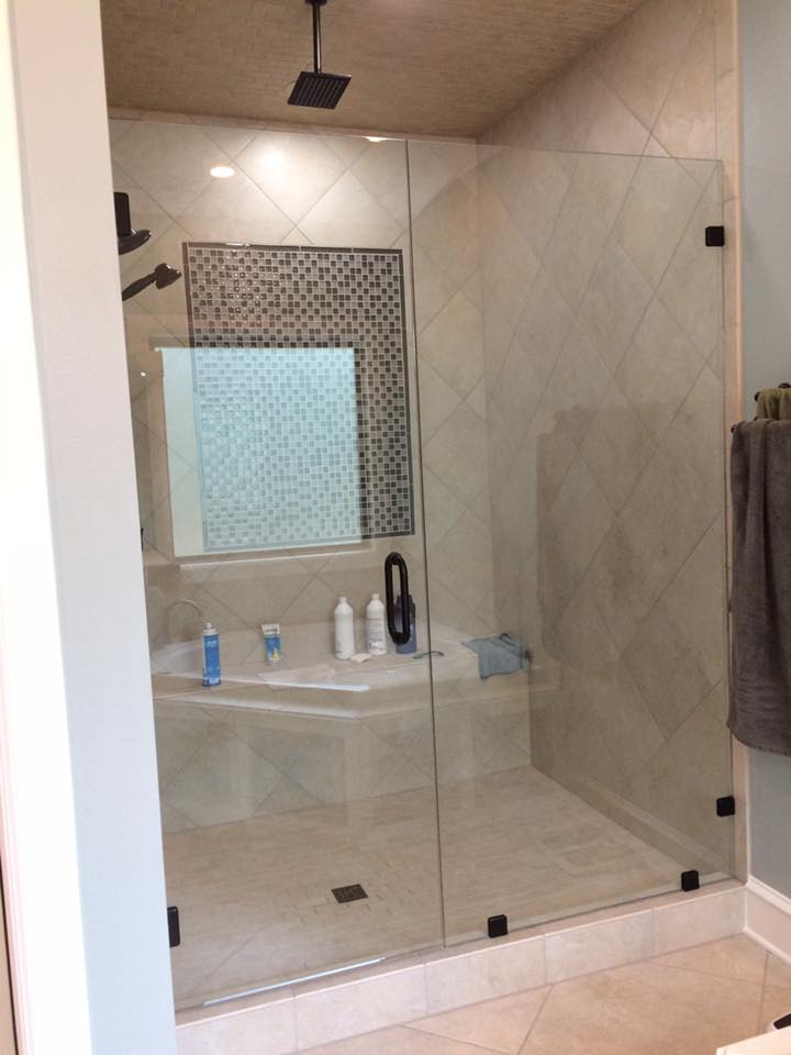 custom shower doors River Valley Tinting and Glass